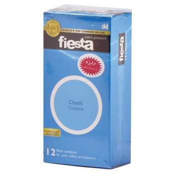 کاندوم ساده فیستا مدل Classic بسته 12 عددی