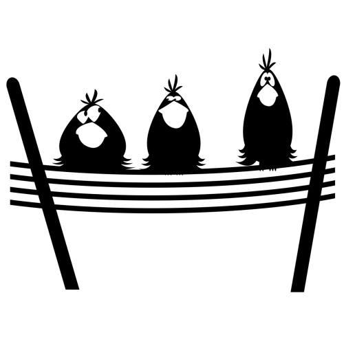 استیکر کلید پریز پدیده شاپ طرح پرندگان بسته 2 عددی