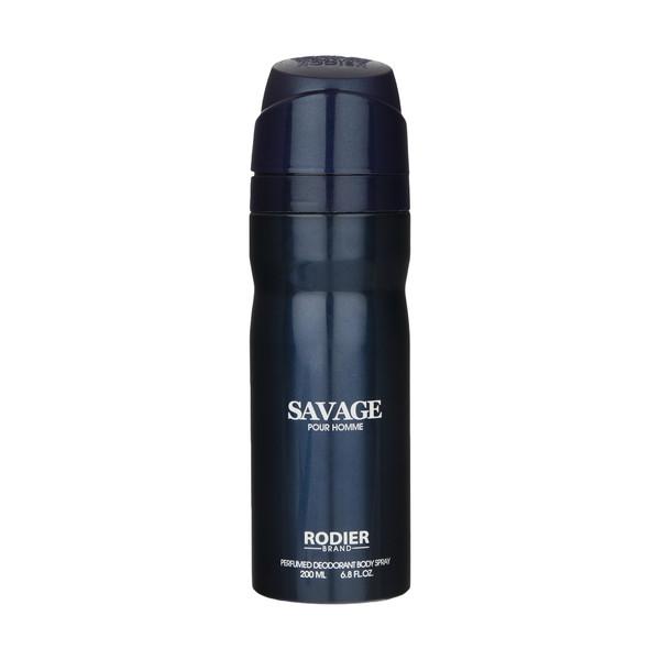 اسپری بدن مردانه رودیر مدل sAVAGE حجم 200 میلی لیتر