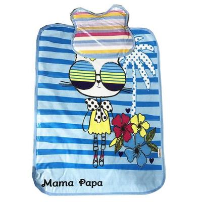 زیرانداز تعویض نوزاد ماما پاپا مدل گربه عینکی کد 10