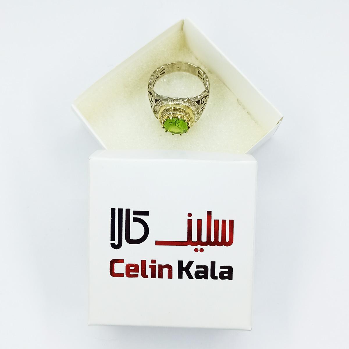 انگشتر نقره مردانه سلین کالا مدل زمرد ce-As12