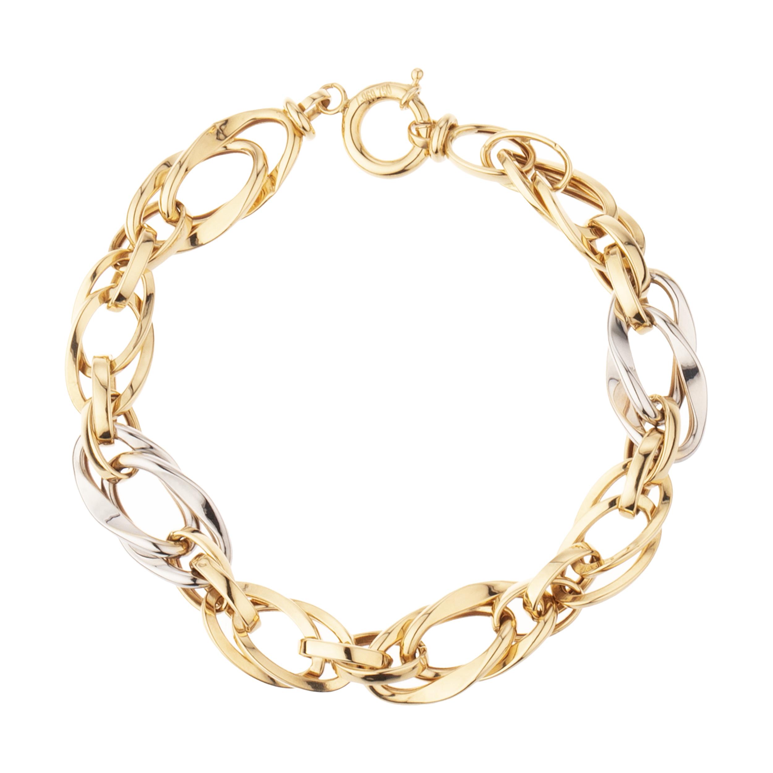 دستبند طلا 18 عیار زنانه آلند مدل KHD61