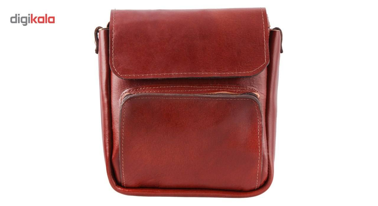 کیف دوشی چرم طبیعی گالری ستاک کد 81042 -  - 1