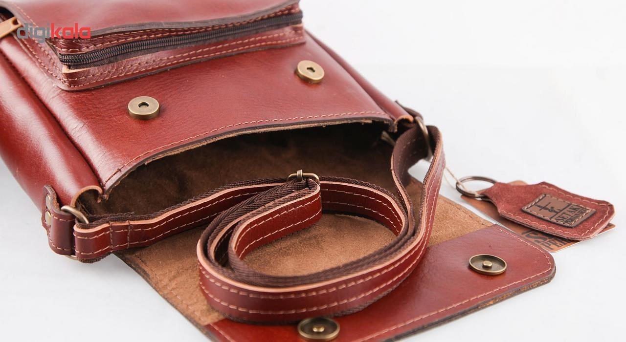 کیف دوشی چرم طبیعی گالری ستاک کد 81042 -  - 2
