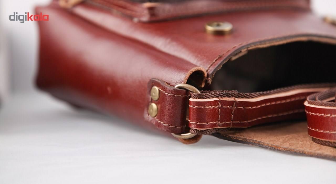 کیف دوشی چرم طبیعی گالری ستاک کد 81042 -  - 4