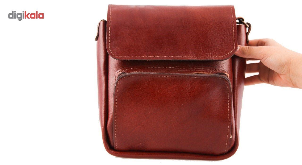 کیف دوشی چرم طبیعی گالری ستاک کد 81042 -  - 6