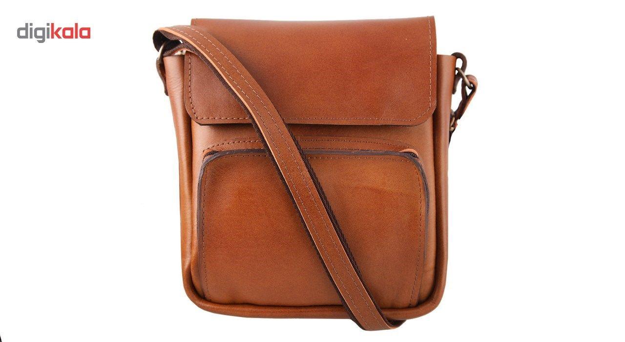 کیف دوشی چرم طبیعی گالری ستاک کد 81042 -  - 7