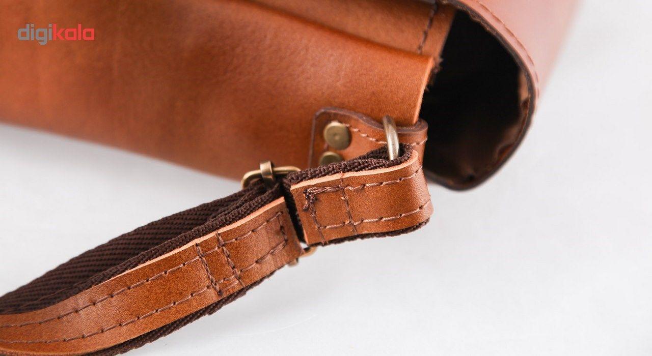 کیف دوشی چرم طبیعی گالری ستاک کد 81042 -  - 5