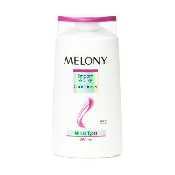 نرم کننده موی سر ملونی مدل smooth and silky مناسب انواع مو حجم 250 میلی لیتر