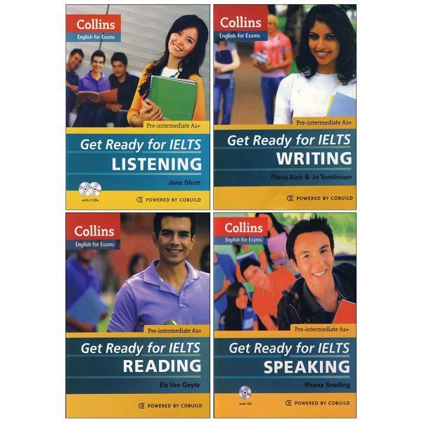 خرید                      کتاب Get Ready for IELTS اثر جمعی از نویسندگان انتشارات زبان مهر 4 جلدی