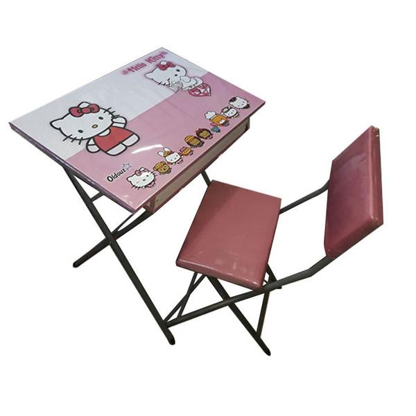 ست میز تحریر و صندلی مدل دخترانه کد 3006