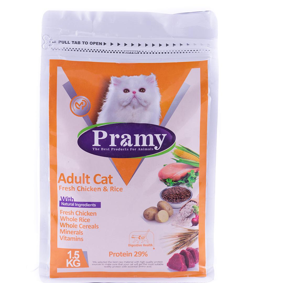 غذای خشک گربه پرامی مدل Adult وزن 1.5 کیلوگرم