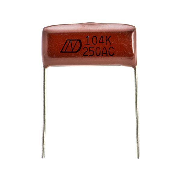 خازن پلی استر 100 نانو فاراد مدل 104j AC بسته 2 عددی