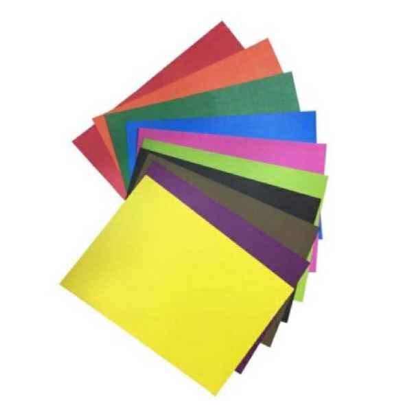 مقوا رنگی کد 2535 سایز 35×25 سانتی متر بسته 10 عددی