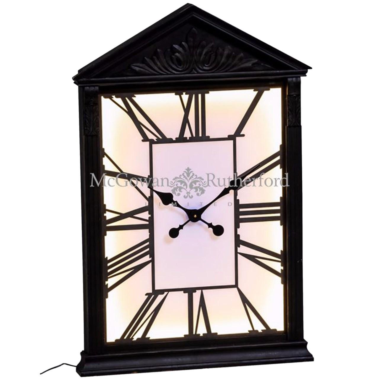 ساعت دیواری مک گوان رادرفورد مدل Wooden Framed Backlit