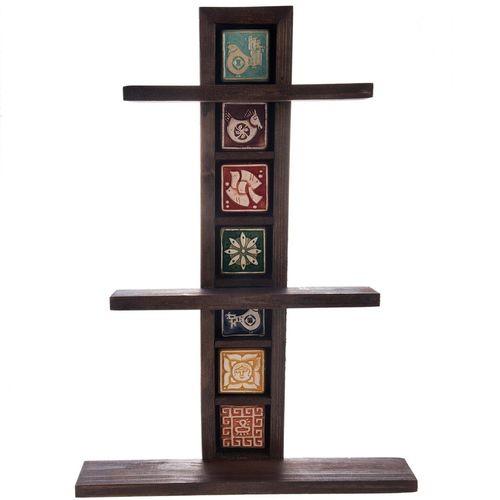 طبقه چوبی گالری اسعدی مدل خشتی طرح کاشی کد 66052