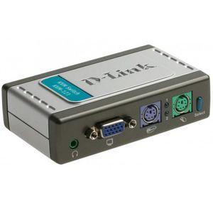 سوییچ 2 پورت KVM همراه با پشتیبانی از صدای دی-لینک مدل KVM-121