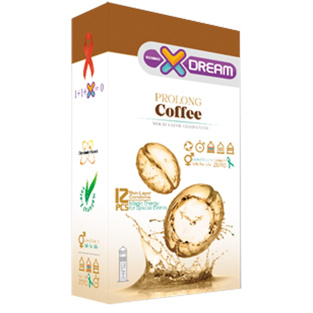 عکس کاندوم ایکس دریم مدل Coffee بسته 12 عددی