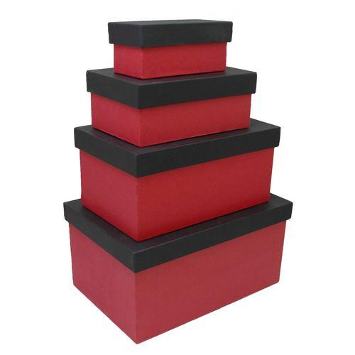 جعبه هدیه چوبی باکسیشو مدل B110 مجموعه 4 عددی