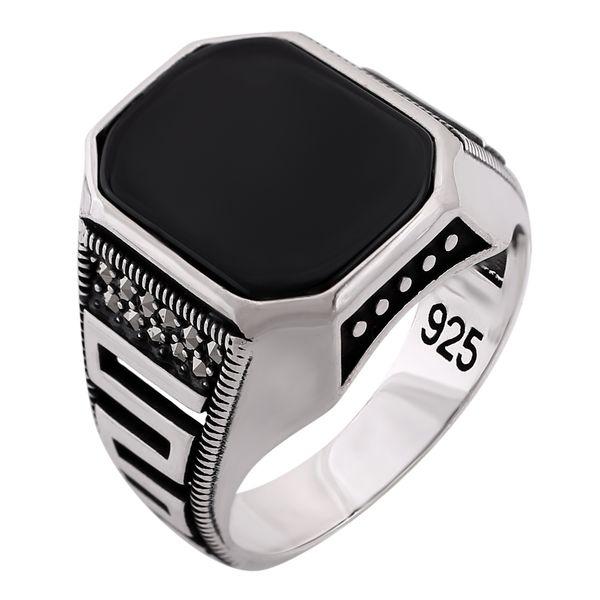 انگشتر نقره مردانه مدل کد R3182