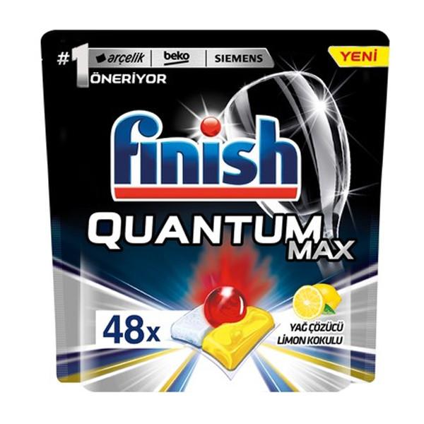 قرص ماشین ظرفشویی فینیش مدل Quantum Max Leamon بسته 48 عددی