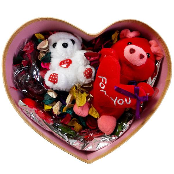ست هدیه عروسک مدل خرس و خوک کد 104