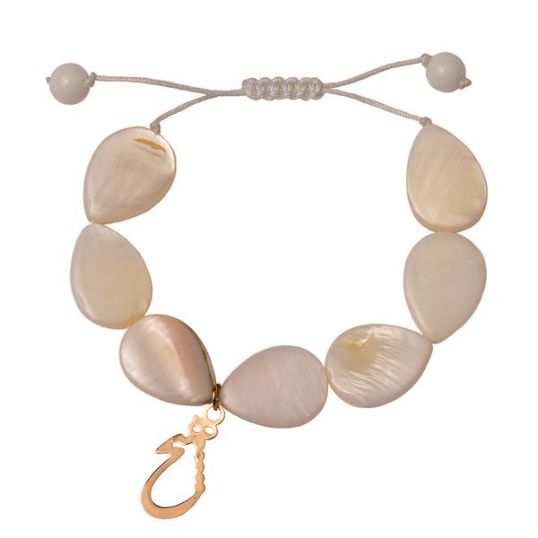 دستبند طلا 18 عیار دخترانه کرابو طرح هیچ مدل Krd1022