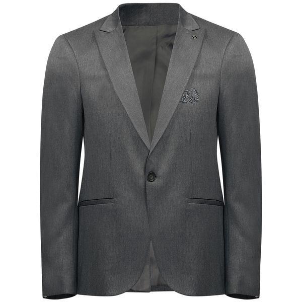 کت تک مردانه مدل KKTT رنگ طوسی تیره