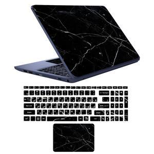 استیکر لپ تاپ طرح marble کد 02 مناسب برای لپ تاپ 17 اینچی به همراه برچسب حروف فارسی کیبورد