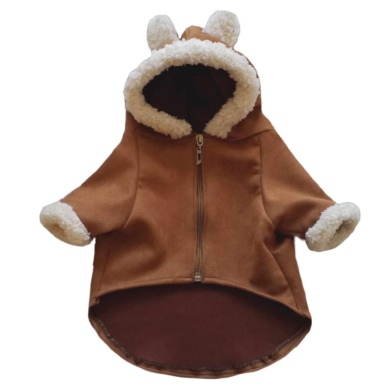 لباس سگ مدل کلاهدار سایز L