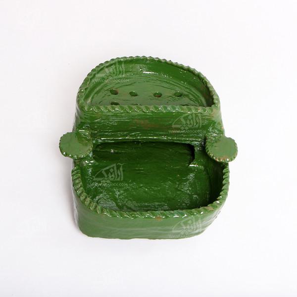 آتش دان سفالی  آرانیک لعاب ساده طرح دیبا  رنگ سبز  مدل 1000700004