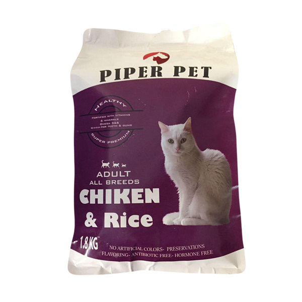 غذای خشک گربه بالغ پی پر مدل Chiken وزن 1.8 کیلوگرم