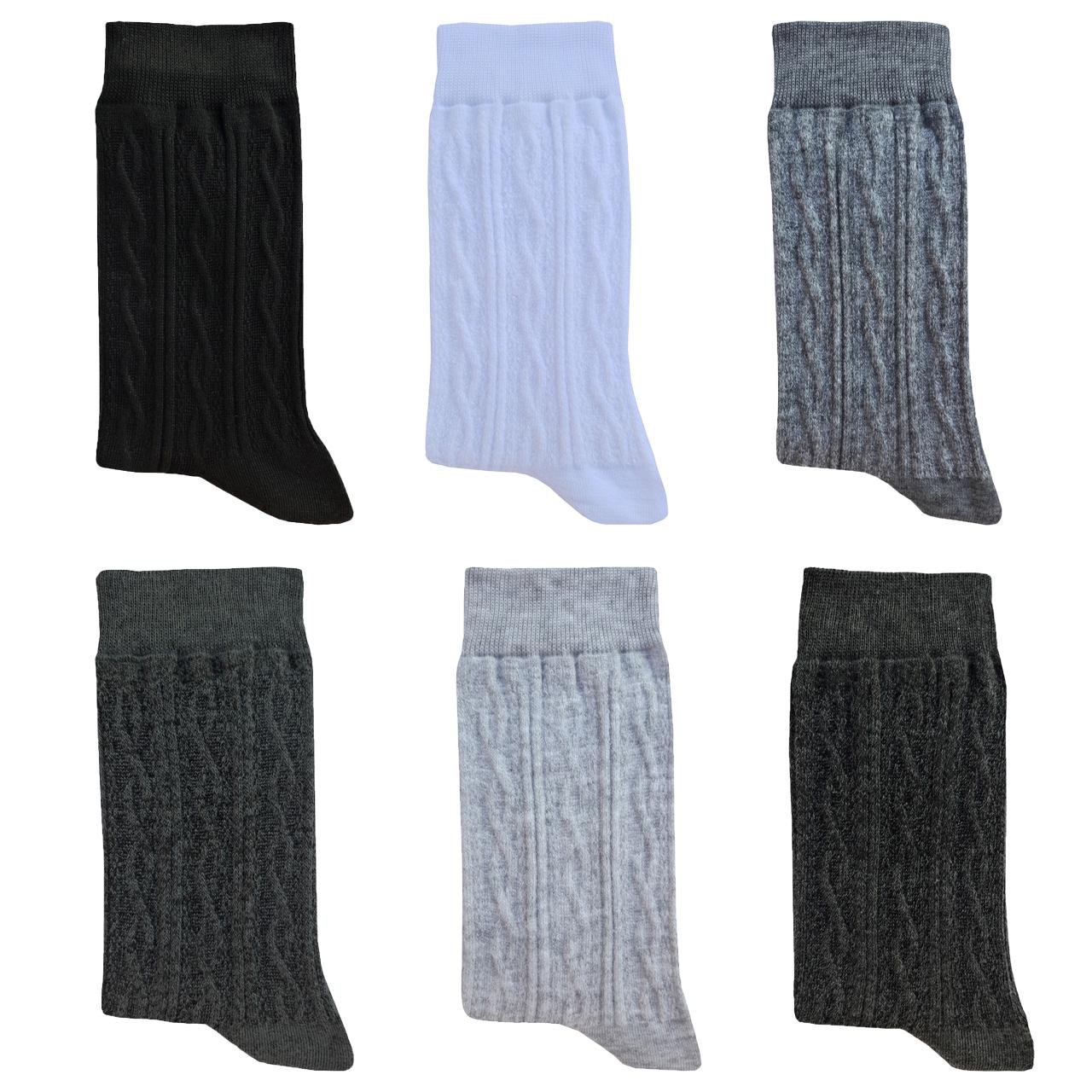 جوراب مردانه زند کد S S  _ 2 مجموعه 6 عددی