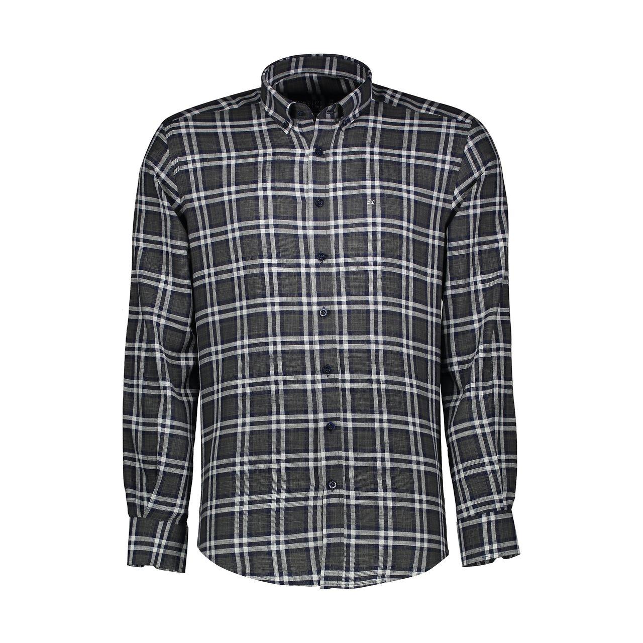 پیراهن آستین بلند مردانه ال سی من مدل 02141074-328