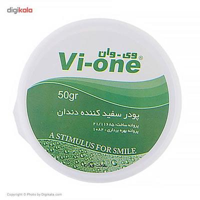پودر سفید کننده دندان وی وان مدل Mint وزن 50 گرم مجموعه 2 عددی