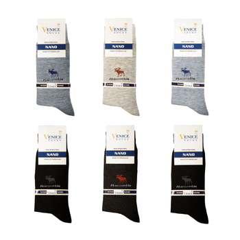 جوراب مردانه ونیز کد AL-V11 مجموعه 6 عددی
