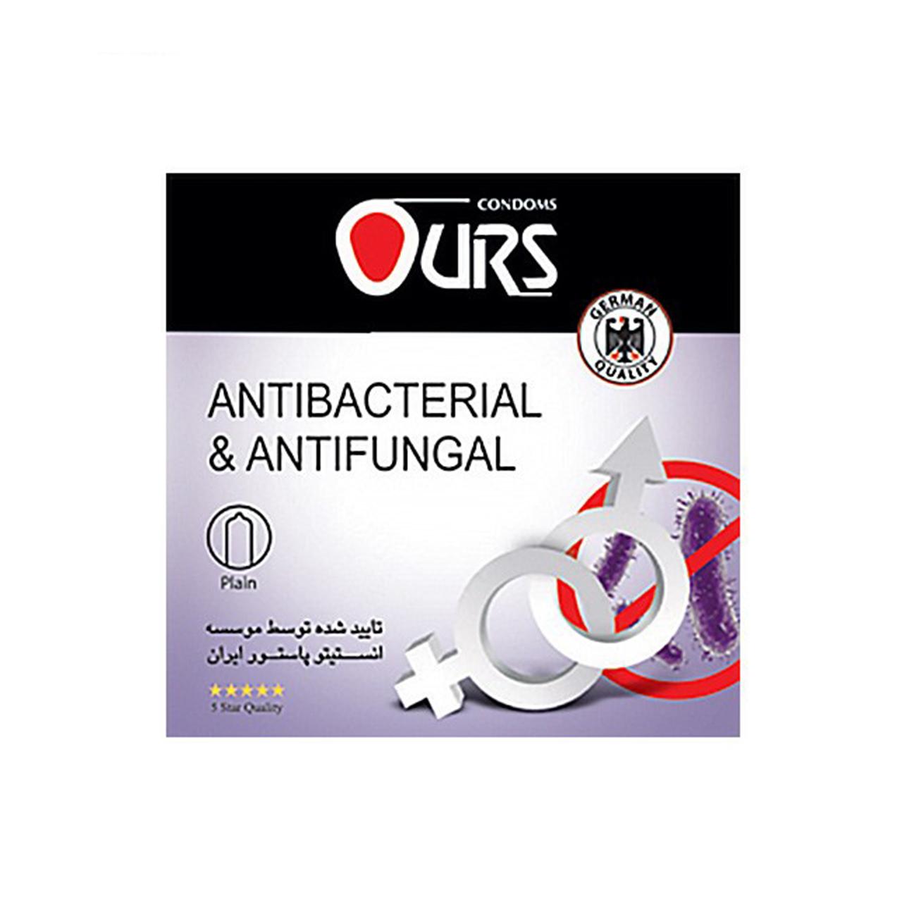 کاندوم اورز مدل Antibacterial And Antifungal بسته 3 عددی