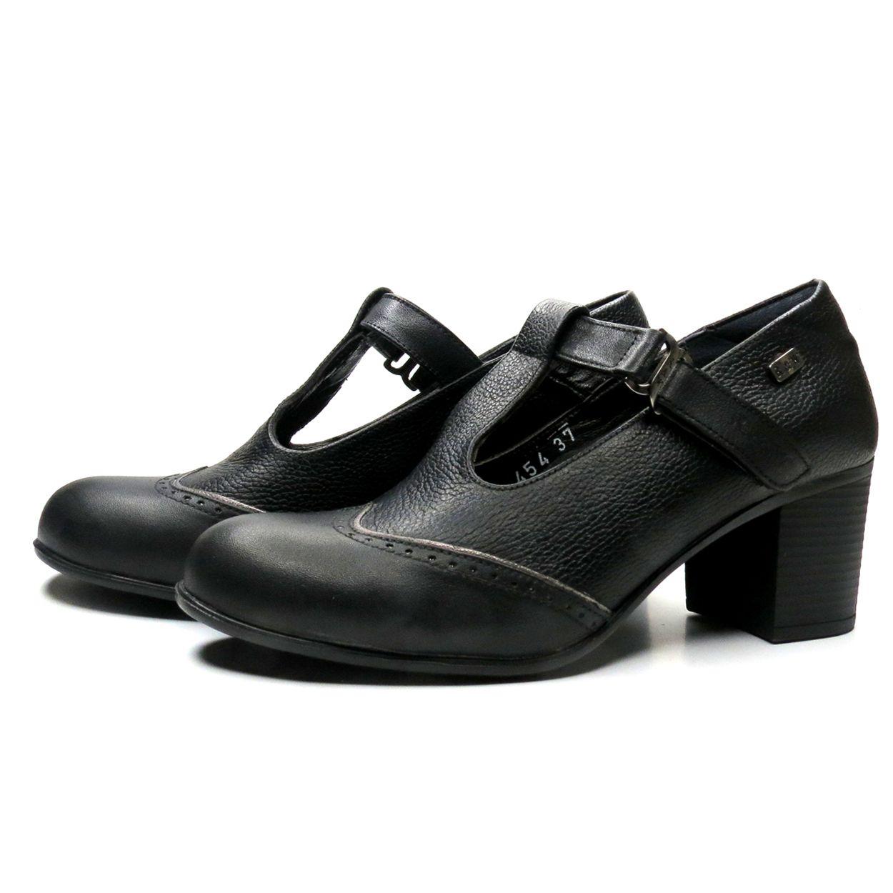 کفش زنانه آر اند دبلیو مدل 454 رنگ مشکی -  - 4