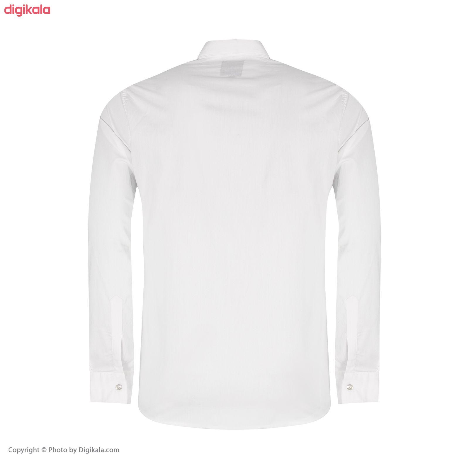 پیراهن مردانه کد PVLF-W-M-9903 رنگ سفید main 1 2