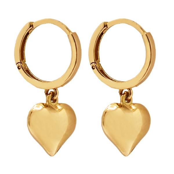 گوشواره طلا 18 عیار زنانه گالری مرجان طرح قلب مدل 1089