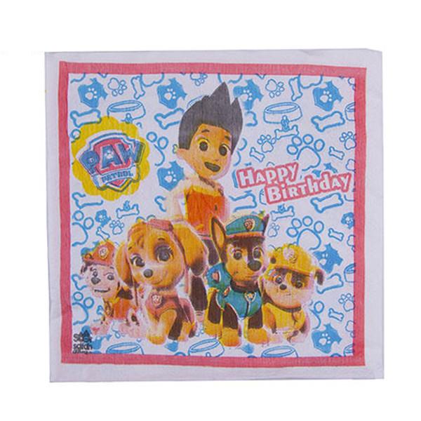 دستمال کاغذی سورساتان مدل سگ های نگهبان بسته 20 عددی