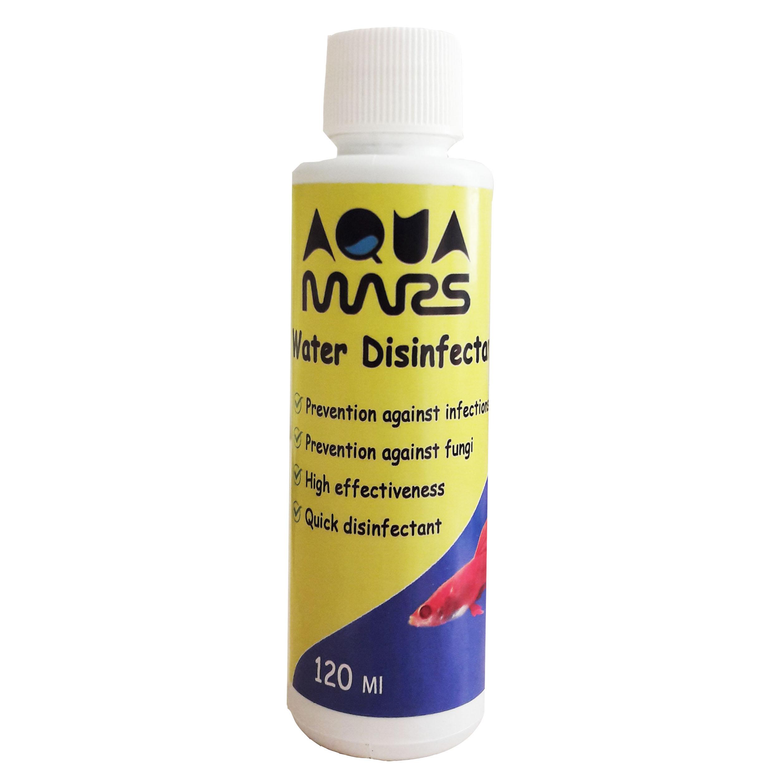خرید                     محلول ضدعفونی کننده آب آکواریوم آکوا مارس کد 1 حجم 120 میلی لیتر