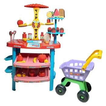 اسباب بازی سوپر مارکت مدل 306 به همراه چرخ خرید