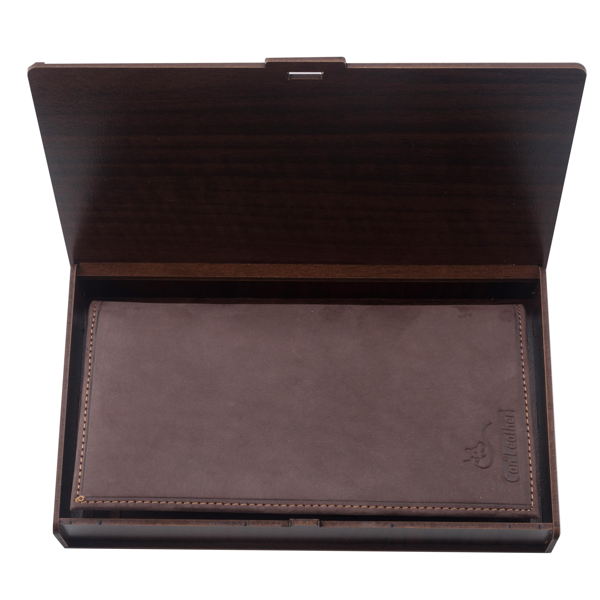خرید                                     کیف پول مردانه چرم کن ا مدل D-397