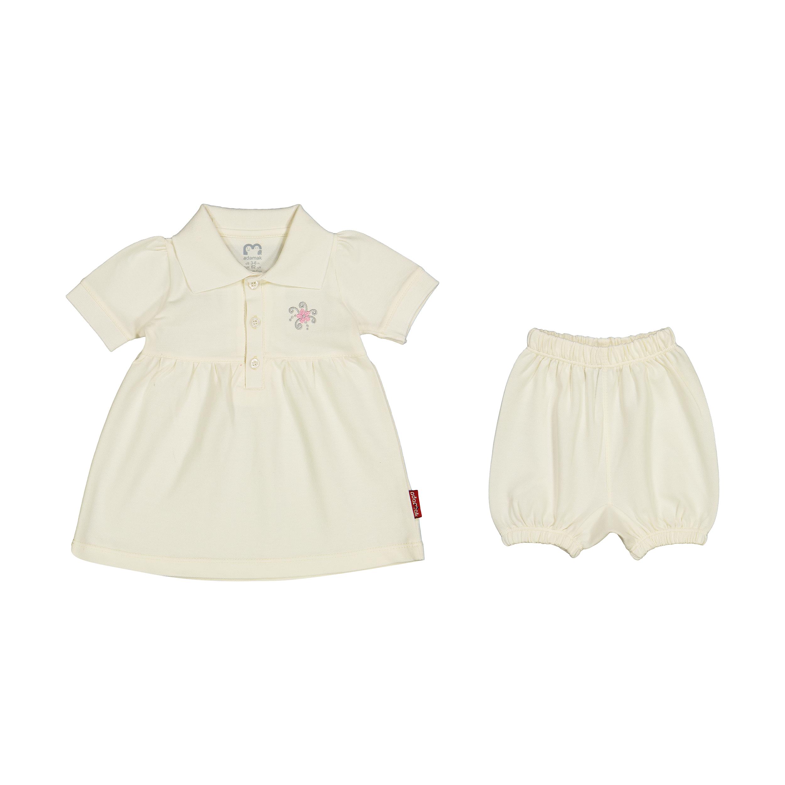 ست پیراهن و شلوارک دخترانه آدمک مدل 2171152-01