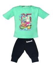 ست تی شرت و شلوارک پسرانه کد 4175 -  - 1