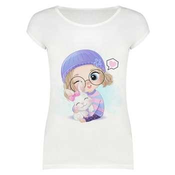 تی شرت زنانه طرح دختر کد 2093