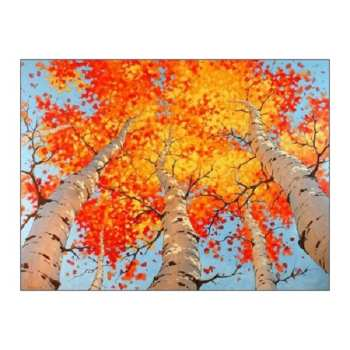 تابلو نقاشی اکریلیک طرح پاییز
