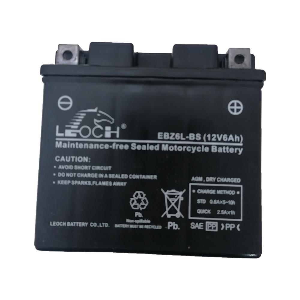 باتری موتورسیکلت لووچ مدل EBZ6L-BS-12V 6A