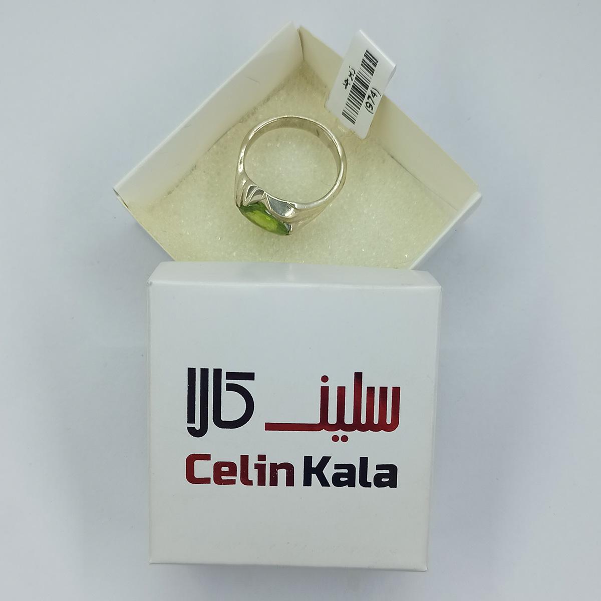انگشتر نقره مردانه سلین کالا مدل زبرجد ce-As190